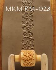 TEXTUR ROLLSTEMPEL  RM-028  L 3CM, <br><i>Preis pro Stück</i>